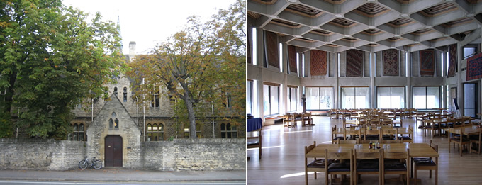 Left: Gateway Buildings / Right: The college's main hall in the Hilda Besse building